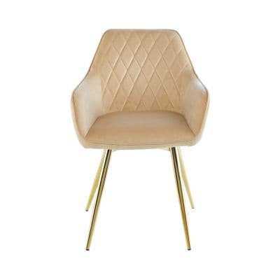 Dining Chair with gold legs