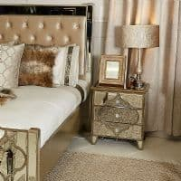 Egyptian Mirrored Bed Side Table