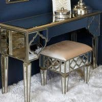 Egyptian Mirrored Console Table