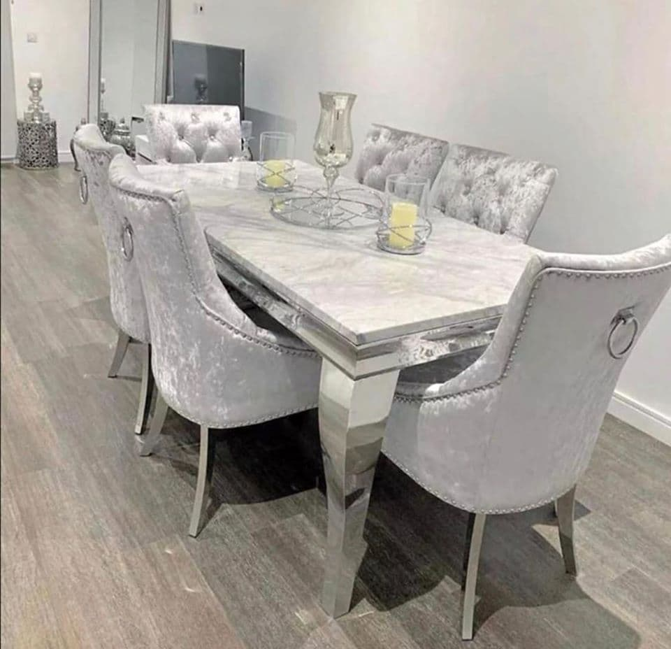 Ella  Dining Table Set with 6 Chairs