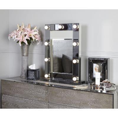 Hollywood Smoked 9 Light Mirror