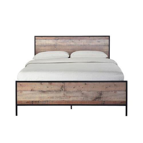 Hoxton 4.6 Double Bed - Oak Effect