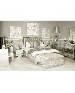Milan Mirrored Bed