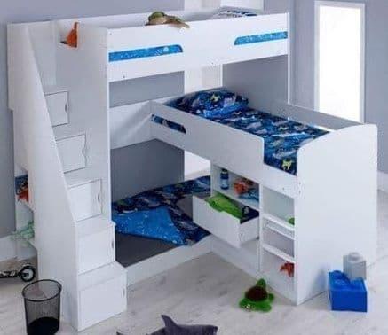 Ozaro Triple Bunk Bed
