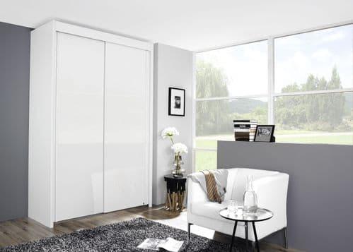 Peril 2 Door Sliding Wardrobe In White