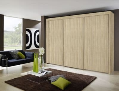 Peril Sliding Wardrobe- Front With Wooden Decor