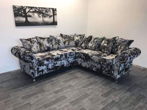 Rio Double Lustro Velvet Corner Sofa