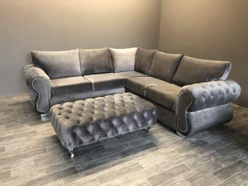 Rio Italian Velvet Corner Sofa