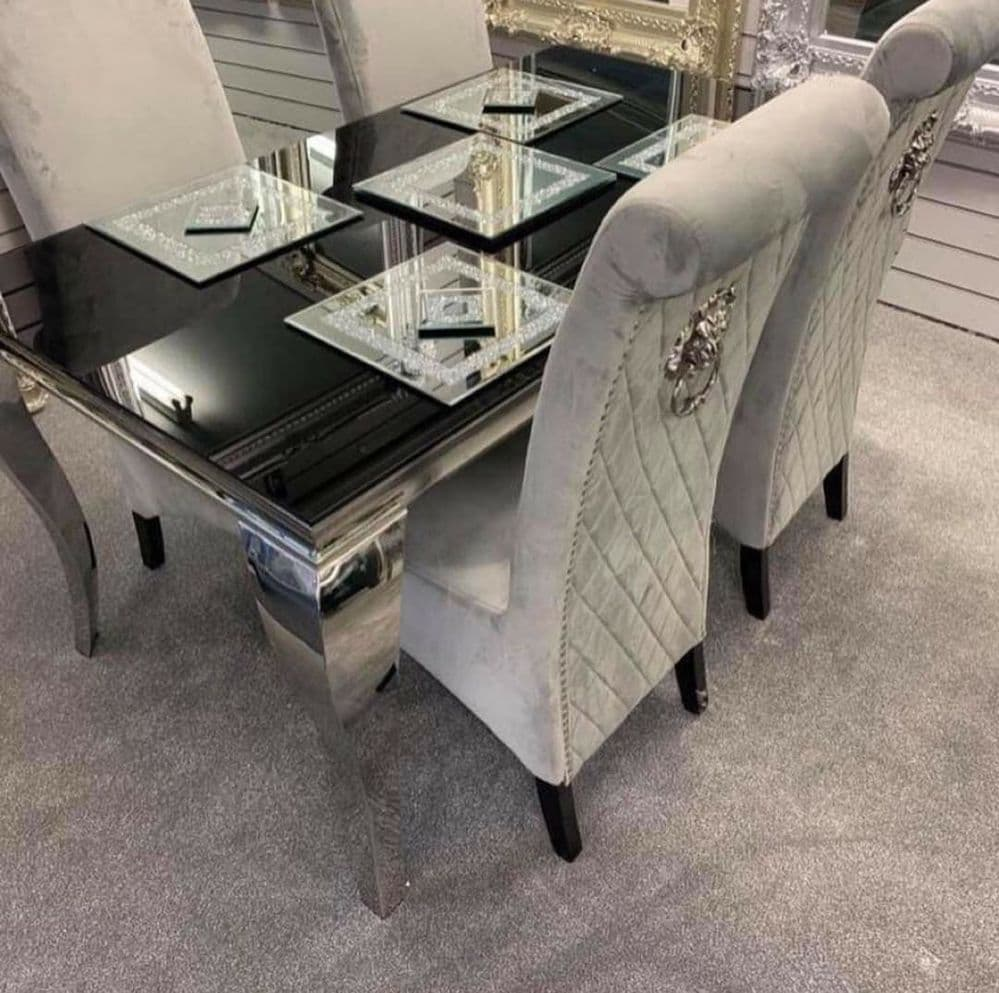 Romeo Dining Table with 4 High Knockerback Chairs