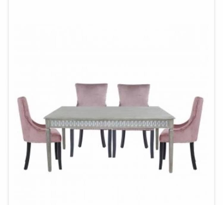 Splendour Large Crystal Dining set & 6 Ring Back Chairs