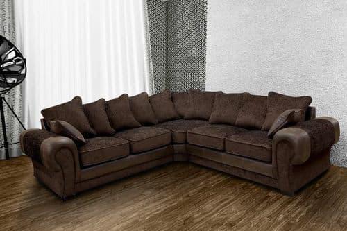 Tanny Corner Sofa Brown