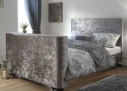 Texas Crushed Velvet Electric Tv Bed