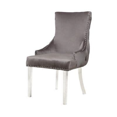 Tufted Back Dining Chair With Steel Legs