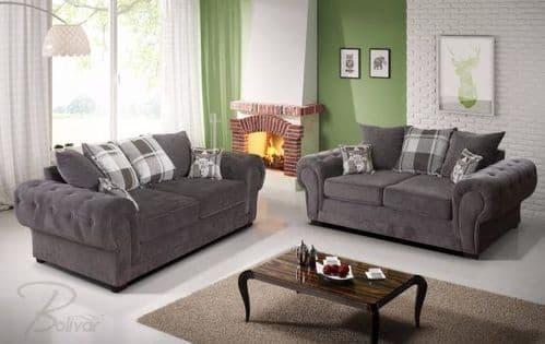 Venezia 3+2 Graphite Large Sofa Set