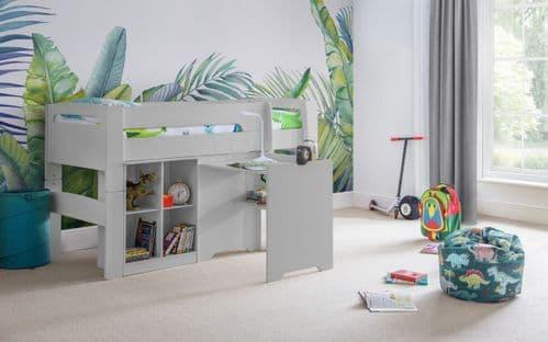 Venus Midsleeper, Desk & Bookcase Set