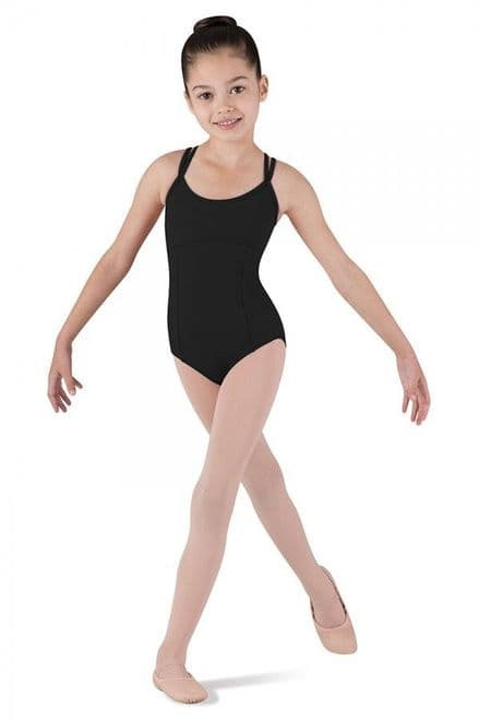 Dolly Girl's double cross back camisole leotard - Bloch
