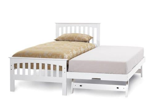 Amelia White Wooden Guest Bed