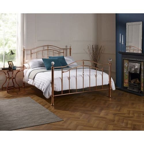 Ashley Double 4'6 Metal Bedframe Rose Gold