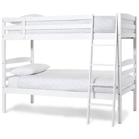 Brooke Opal White Single Bunk Bed