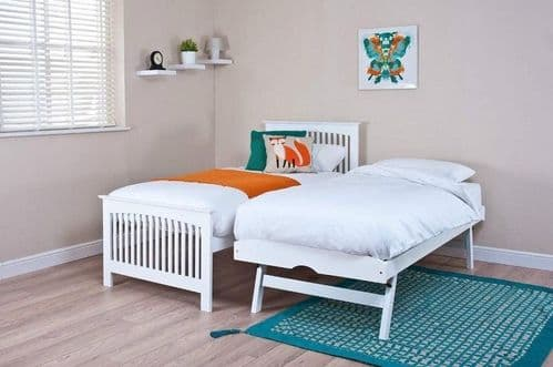 Buyingbeds Toronto White Wooden Guest Bed with Trundle