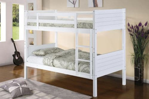 Castleton White Wooden Bunk Bed