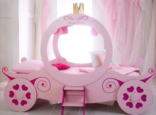 Children's Princess Carriage Bedframe