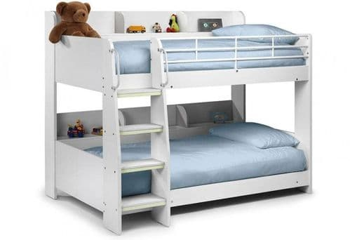 Domino White Wooden Bunk Bed