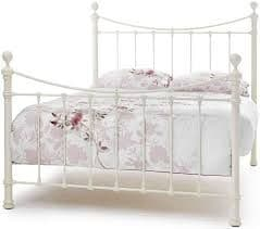 Ethan Superking 6'0 Metal Bedframe Ivory Gloss