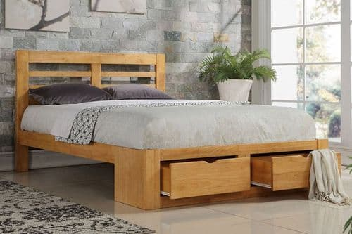 Flintshire Bretton Oak Double 4ft6 2 Drawer Bedframe