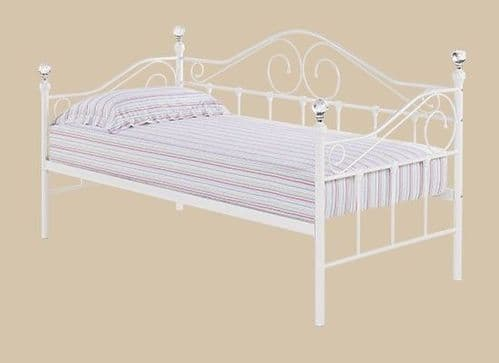 Florrie White Gloss Single Day Bed