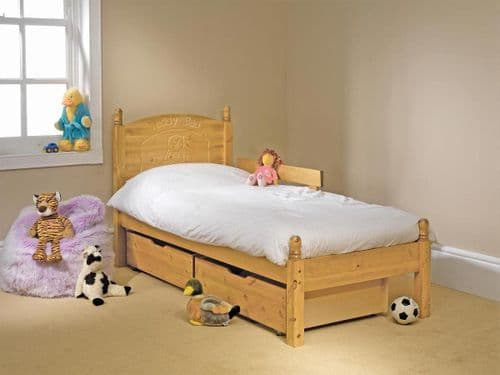 Frendship Mill Teddy Personalised (add your Childs name) Single 3ft Wooden Bed