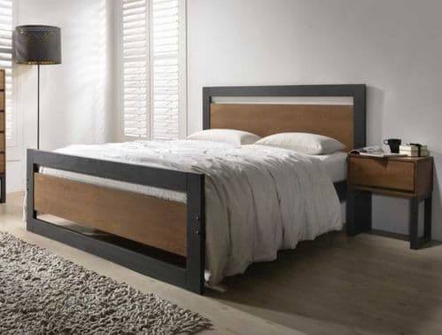 Harmony Olivia Charcoal Wooden Double 4'6 Bedframe