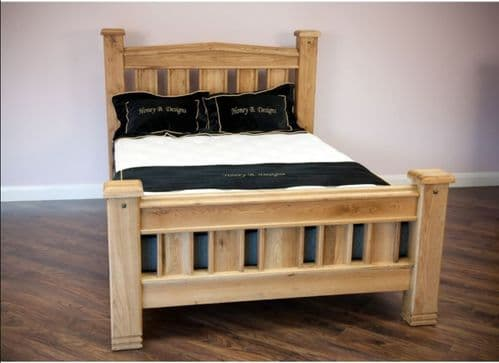 Honey B Donny Solid Oak Superking 6ft Bedframe