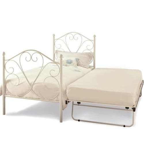 Isabelle White Metal Guest Bed