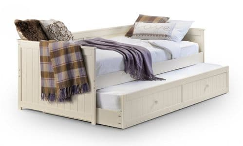 Jessica Stone White Day Bed With Trundle
