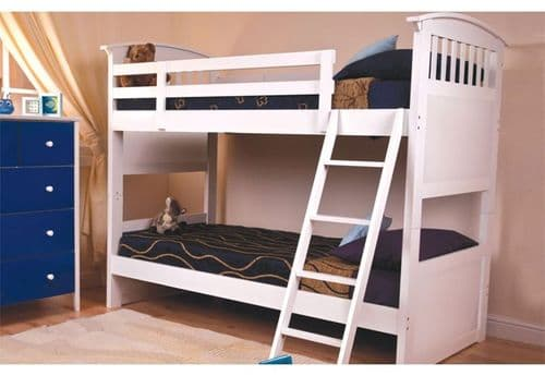 Kipling White Wooden Bunk Bed