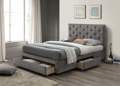 Limelight Monet Grey  Fabric Double 4ft6  Bedframe