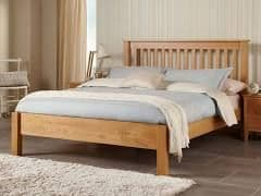 Lincoln American Oak Double 4'6 Bedframe