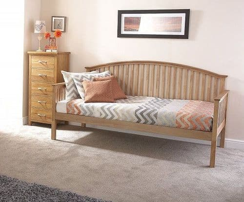 Madrid Natural Oak Wooden Day Bed