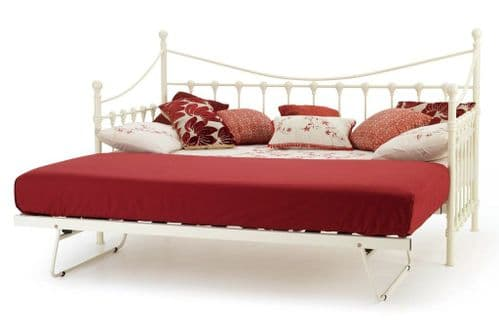 Marseilles Ivory Gloss Single Day Bed  (With Trundle Option)