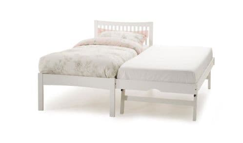 Mya Opal White Wooden Guest Bed