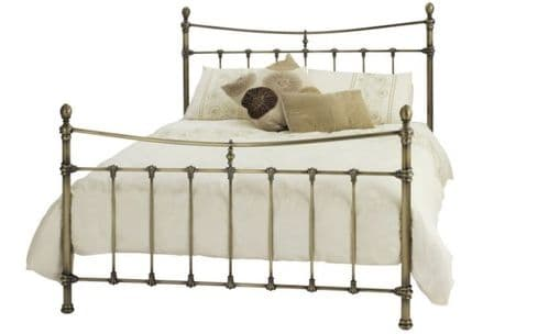 Olivia Antique Brass Double 4ft6 Bedframe