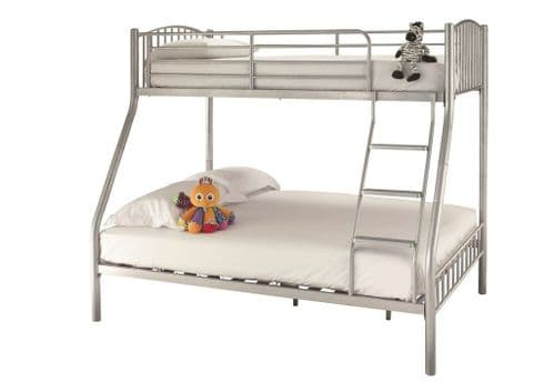 Oslo Silver Triple Sleeper Bunk Bed