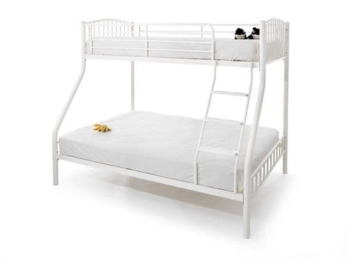 Oslo White Gloss Triple Sleeper Bunk Bed