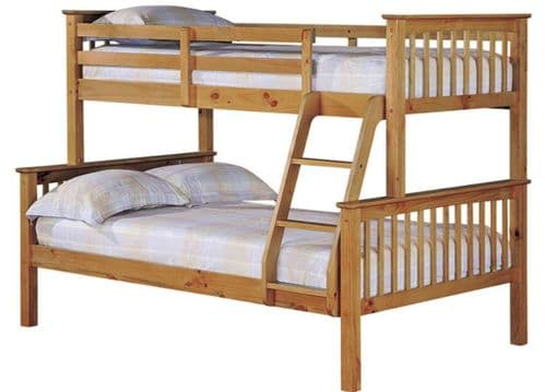 Otto Trio Bunk Bed Anitique Wax Pine