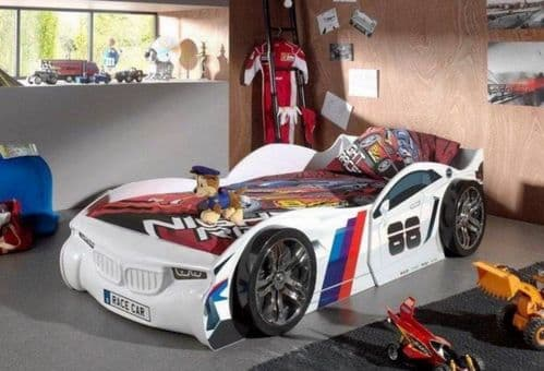 Silverstone White Car Racer Bed Frame
