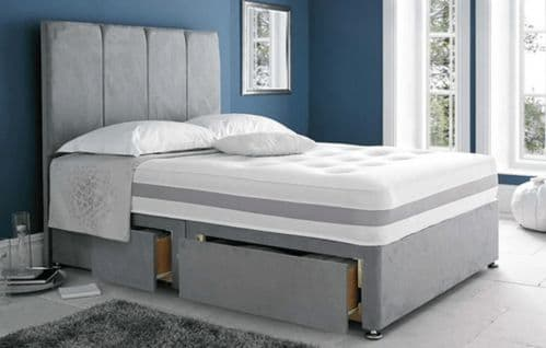 Solo Memory Open Coil & Memory Foam Small Double 4'0 Divan Bed
