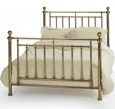 Solomon Kingsize 5'0 Metal Bedframe Brass