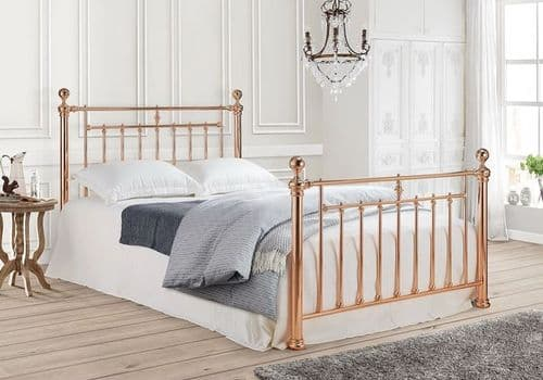 Time Living Alexander Kingsize 5ft Rose Gold Metal Bedframe