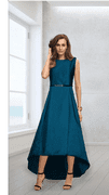 Blue High Low Gown
